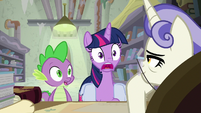 Twilight and Spike completely shocked S9E5