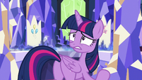 Twilight unnerved by Celestia's laughter S7E1