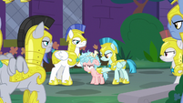 Cozy Glow arrested by royal guards S8E26