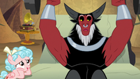 Cozy Glow finds Tirek weightlifting S9E8