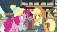 Pinkie and Applejack continue singing together MLPBGE