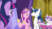 "Princess Cadance ""we'll give you plenty of notice"" S7E3"