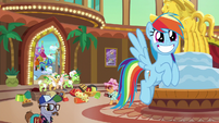 Rainbow excited to ride the Wild Blue Yonder S8E5