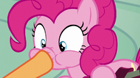Applejack plugs Pinkie Pie's mouth S6E7