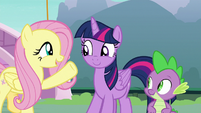 "Fluttershy ""that's a wonderful idea!"" S8E18"