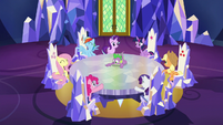 Main ponies getting excited S6E12