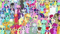 Mane Six and ponies final crowd shot S5E26