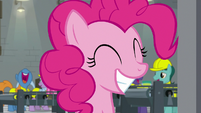 Pinkie Pie with wide, happy grin S9E14