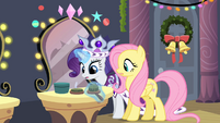 Rarity and Fluttershy surprised S2E11