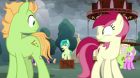 Sandbar addressing the Earth ponies S9E25