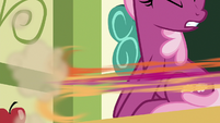 Scootaloo speeds away from Cheerilee S9E12
