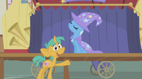 Snails calls Trixie -most awesome unicorn in Ponyville- S1E06
