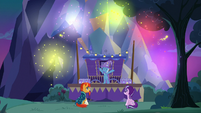 Trixie making a show of fireworks S7E24