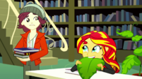 Norman notices Sunset Shimmer acting strangely SS14