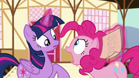 Pinkie Pie snapping at Twilight S5E19