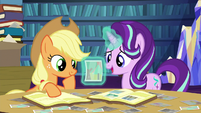 Starlight asks Applejack about a photograph S6E21