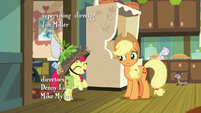 Apple Bloom excitedly rears on hind hooves S9E10