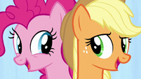 """Applejack and Pinkie """"we're a work in progress"""" S7E14"""