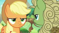 Applejack annoyed by green Kirin's silence S8E23