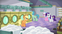 Applejack watches Spa Worker leave S6E10