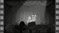 Film reel flashback to Hoofdini S6E6