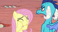 Fluttershy getting over-excited again S9E9
