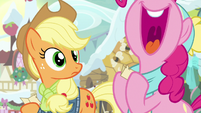 Pinkie Pie squeals with excitement MLPBGE
