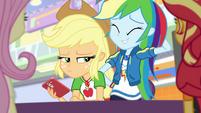 Rainbow Dash looking embarrassed EGROF