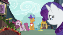Rarity looking at Pinkie and Twisty Pop S8E18