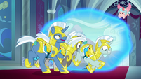 Royal guards fall through rift in space S9E24