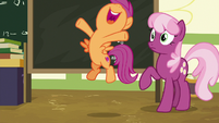 "Scootaloo ""coming home to Ponyville today!"" S9E12"