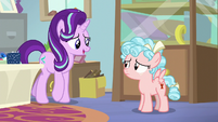 Starlight Glimmer approaches Cozy Glow S8E12