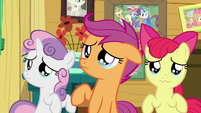 Cutie Mark Crusaders teary-eyed S9E12