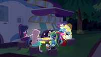 Equestria Girls roasting marshmallows EGSBP