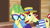 Impossibly Rich whispering in Flam's ear S6E20