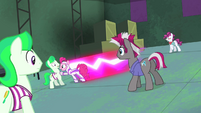 Pinkie playing tag with henchponies S4E06