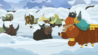 Prince Rutherford tells yaks to stop digging S7E11