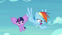 "Rainbow Dash ""Scootaloo ditched me"" S8E20"