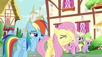 Rainbow Dash --she's a bit peeved-- S6E11