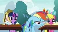 Rainbow Dash feeling guilty S7E23
