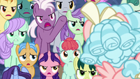 Students rebelling against Neighsay S8E26