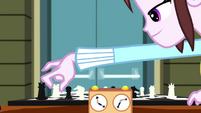 Velvet Sky moving her king piece in chess SS4