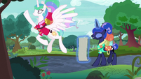 Celestia about to take off into the air S9E13