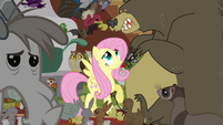 Fluttershy and scared bear S4E01