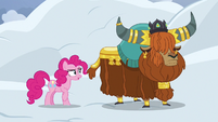 Pinkie Pie skeptical of Rutherford's claim S7E11