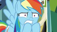 Rainbow Dash looking very worried S9E21