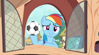Rainbow with soccer ball S4E21