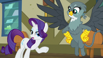 Rarity -for apologizing to Spike- S9E19