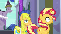 Sunset Shimmer doing a double-take EGFF