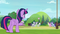 Twilight looking at school students S9E15